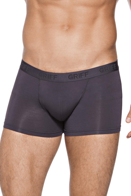 Трусы-боксеры мужские Griff, цвет: темно-серый. U01252_Grigio Scuro. Размер XXL (52)U01252_Grigio ScuroТрусы Boxer с открытой резинкой.
