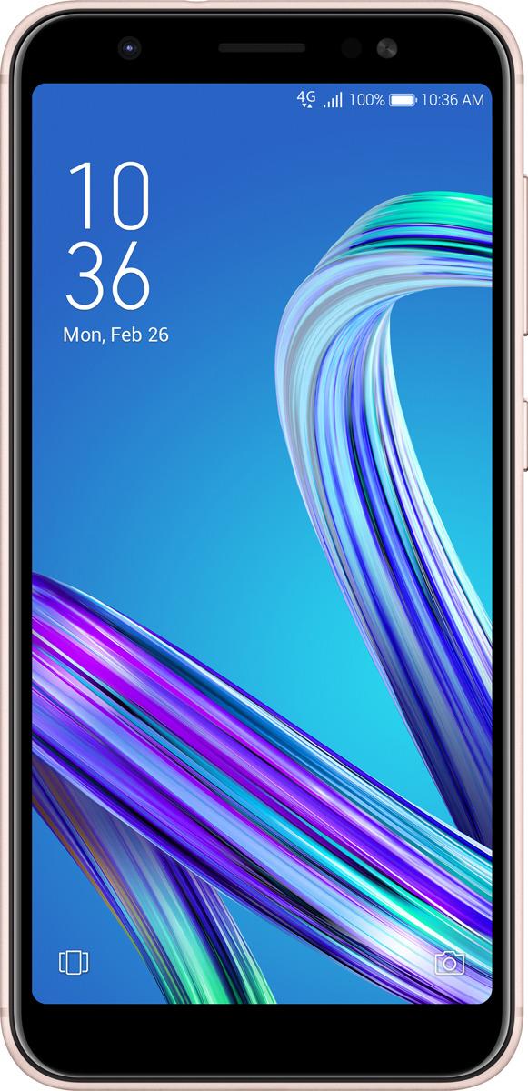 Смартфон ASUS ZenFone Max M1 ZB555KL 3/32GB gold аксессуар защитное стекло для asus zenfone max m1 zb555kl red line tempered glass ут000016530