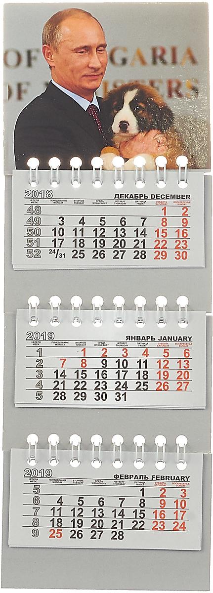 Календарь на спирали микро-трио на 2019 год. Путин календарь на магните отрывной кр33 на 2019 год путин на черном [кр33 19015]