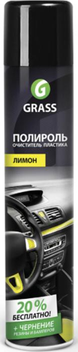 Полироль-очиститель пластика Grass Dashboard Cleaner, глянцевый блеск, лимон, 750 мл
