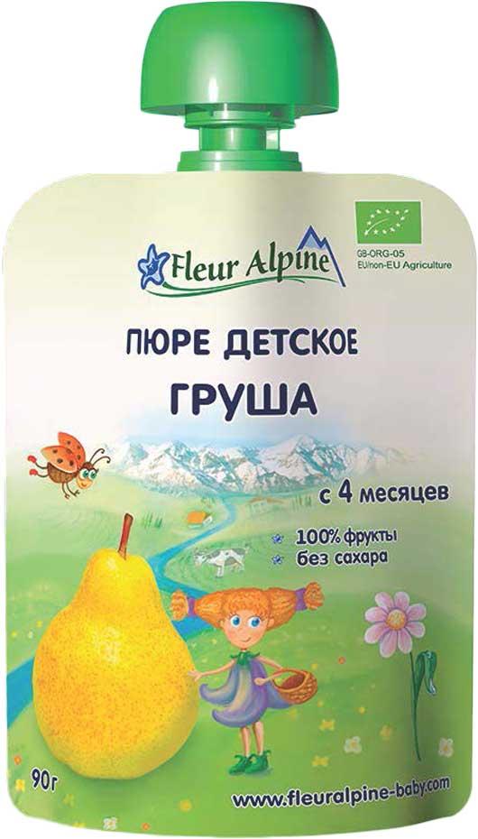 Фото - Fleur Alpine Organic пюре груша, с 4 месяцев, 90 г fleur alpine organic с какао печенье детское с 9 месяцев 150 г