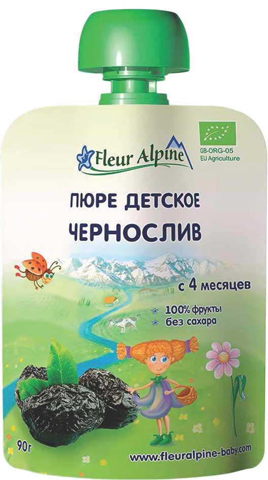 Fleur Alpine Organic пюре чернослив, с 4 месяцев, 90 г