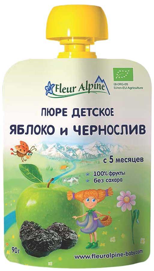 Fleur Alpine Organic пюре яблоко, чернослив, с 5 месяцев, 90 г