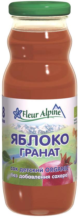Fleur Alpine Organic сок яблоко-гранат, с 8 месяцев, 200 мл