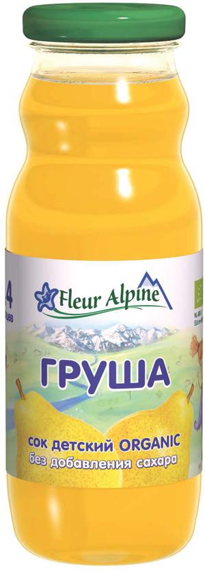 Fleur Alpine Organic сок груша осветленный, с 4 месяцев, 200 мл