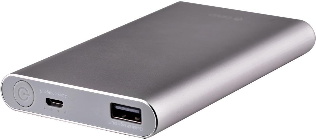 Фото - Аккумулятор внешний Devia King Kong QC2.0, 8000 mAh, цвет: темно-серый аккумулятор