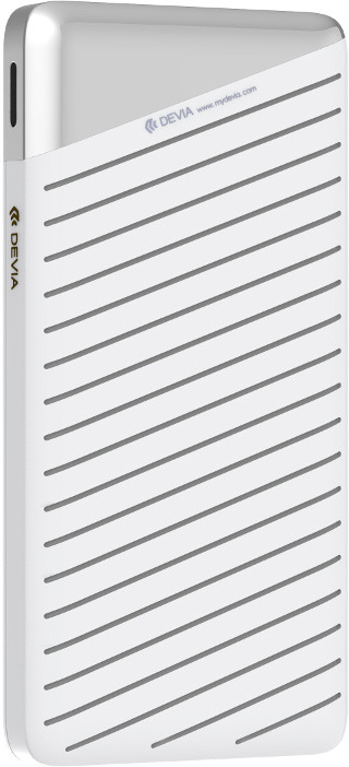 Аккумулятор внешний Devia Elegant J1 Business, 10000 mAh, цвет: серебристый цена