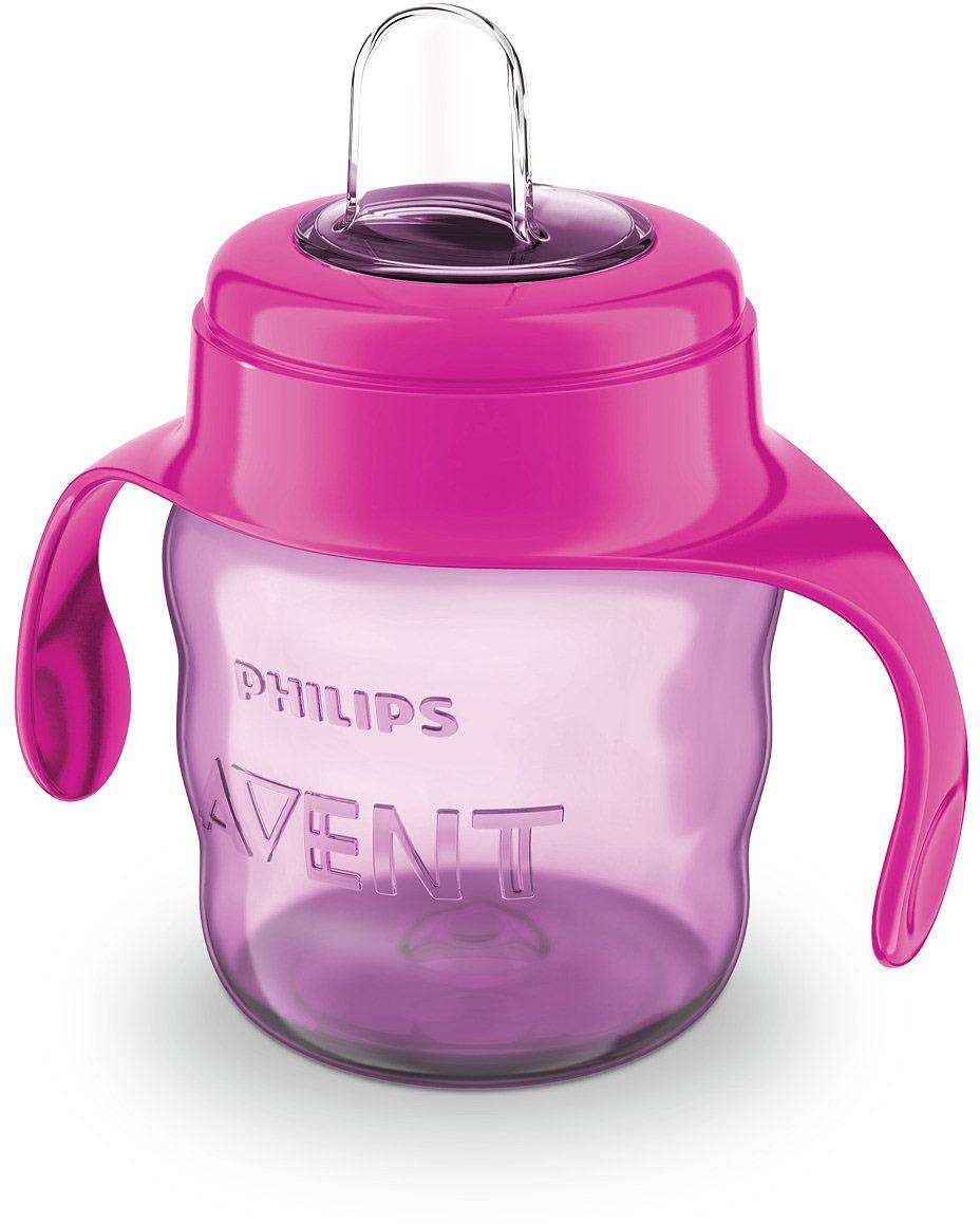 Чашка-непроливайка Philips Avent с мягким носиком для девочек от 6 месяцев, 200 мл. SCF551/03 радиобудильник philips aj3123 12
