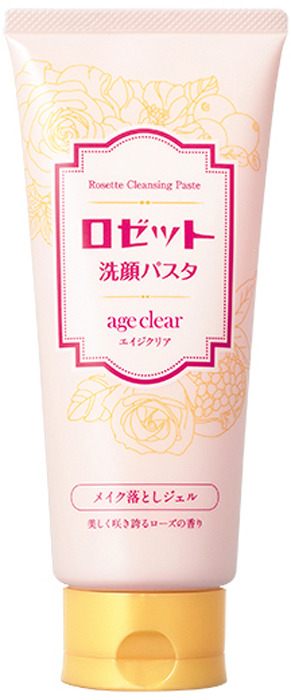 Гель для умывания Rosette Age Clear, тонизирующий, для зрелой кожи, с мембраной яичной скорлупы, маслами граната, клюквы и малины, с ароматом розы, 180 г Rosette