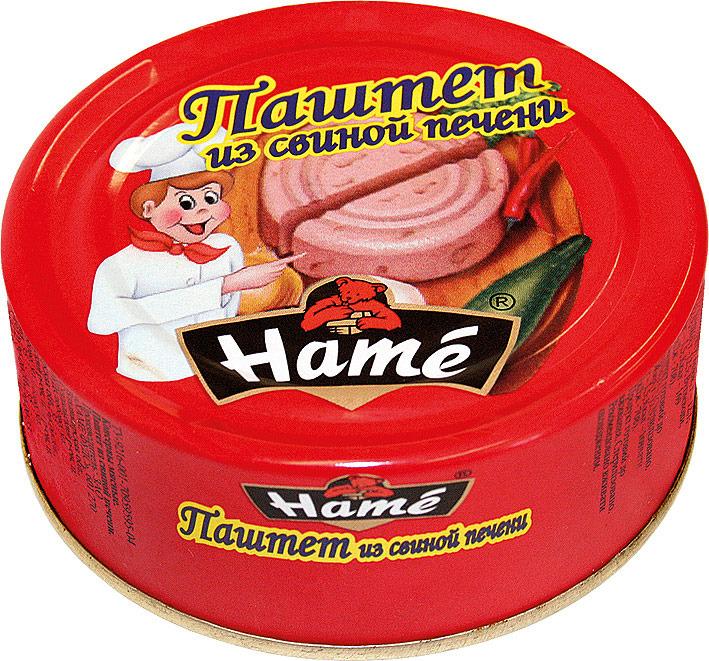 Паштет из свиной печени Hame, 250 г hame татарский кетчуп 325 г