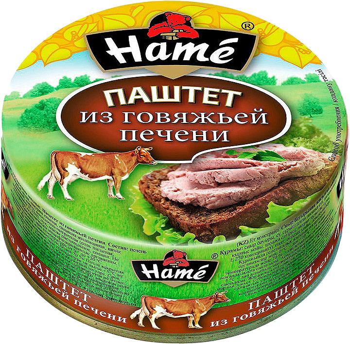 Паштет из говяжьей печени Hame, 250 г hame татарский кетчуп 325 г