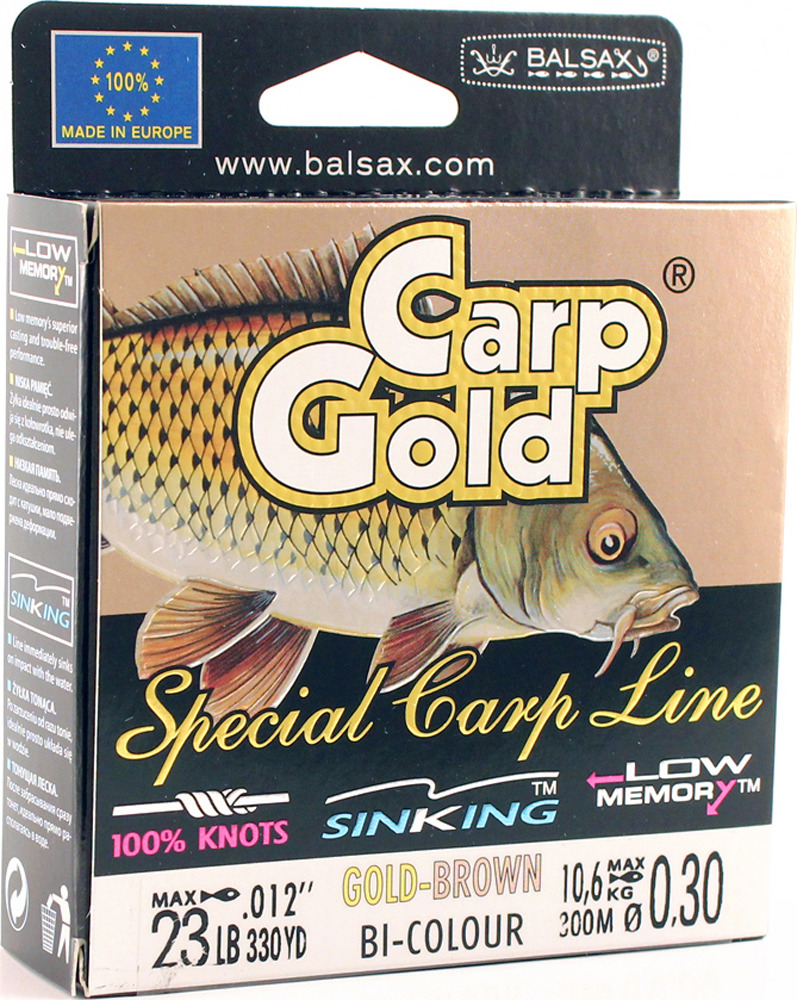 Леска Balsax Gold Carp, 300 м, 0,30 мм, 10,6 кг