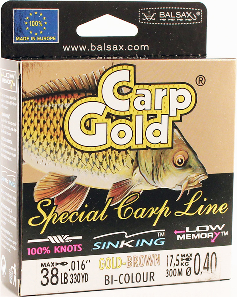 Леска Balsax Gold Carp, 300 м, 0,40 мм, 17,5 кг