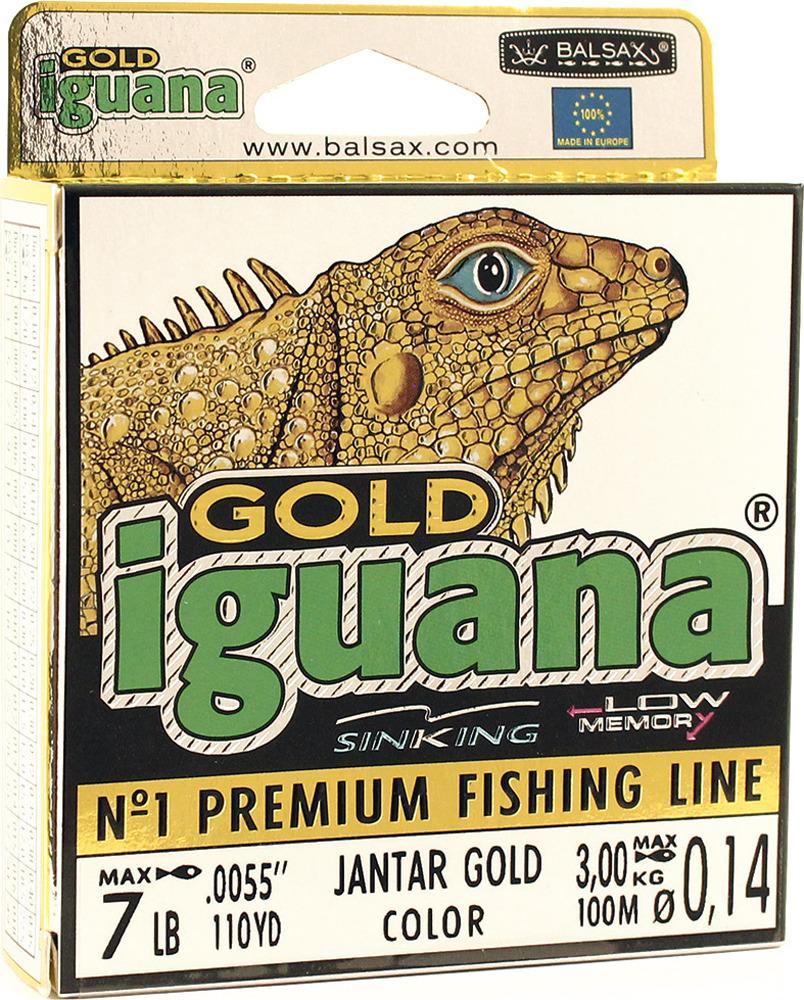 Леска Balsax Iguana Gold, 100 м, 0,14 мм, 3,0 кг