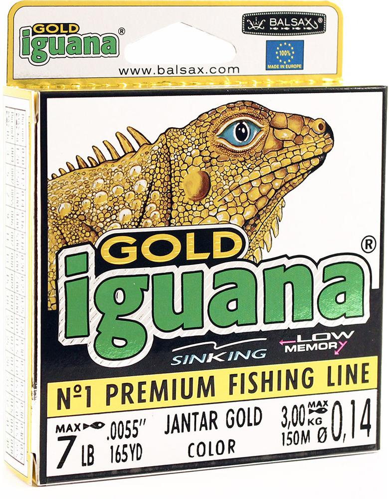 Леска Balsax Iguana Gold, 150 м, 0,14 мм, 3,0 кг