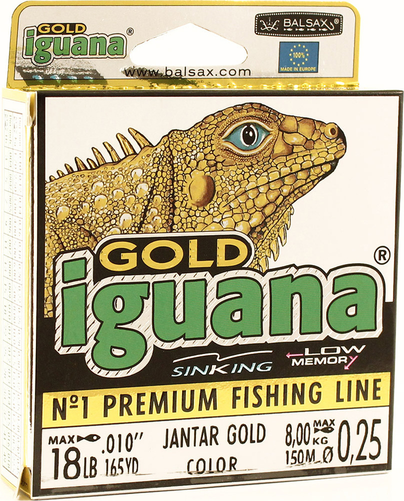 Леска Balsax Iguana Gold, 150 м, 0,25 мм, 8,0 кг