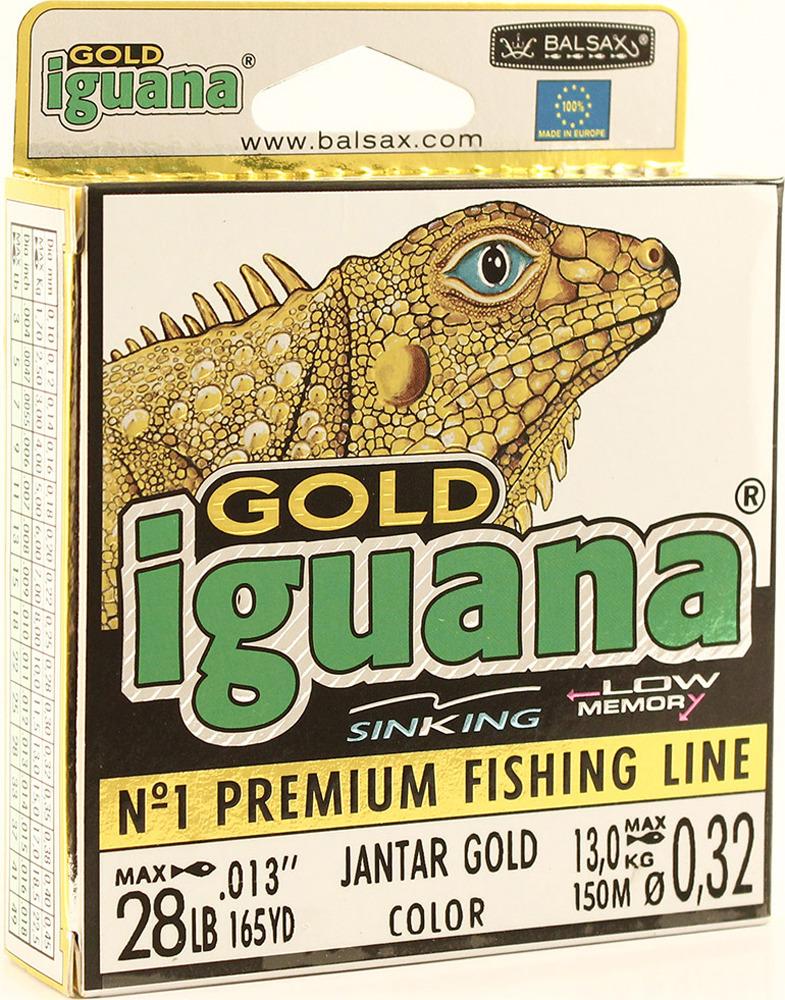 Леска Balsax Iguana Gold, 150 м, 0,32 мм, 13,0 кг