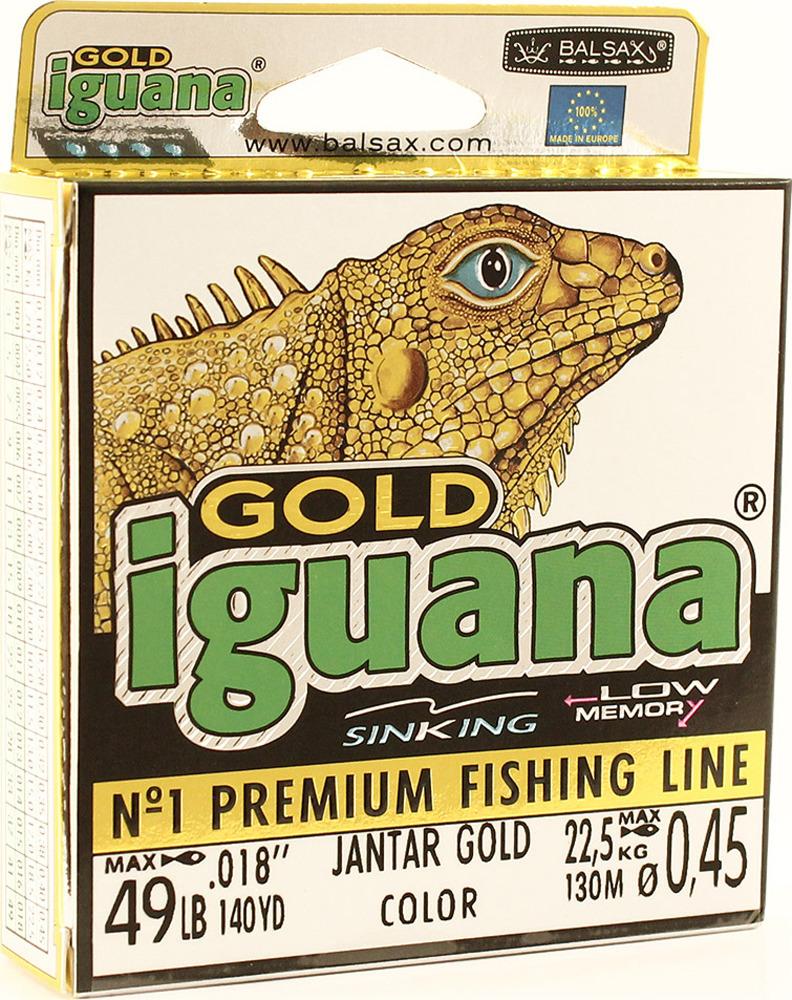 Леска Balsax Iguana Gold, 130 м, 0,45 мм, 22,5 кг