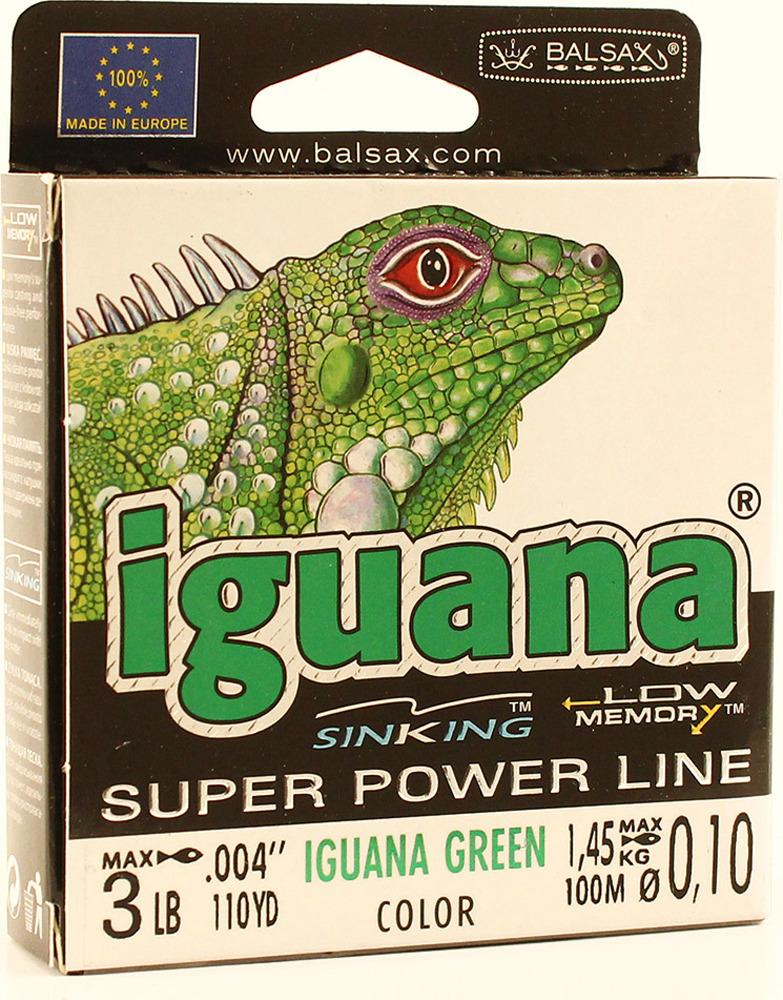 Леска Balsax Iguana, 100 м, 0,10 мм, 1,45 кг аксессуар таблетки для посудомоечных машин top house 6в1 4660003392296