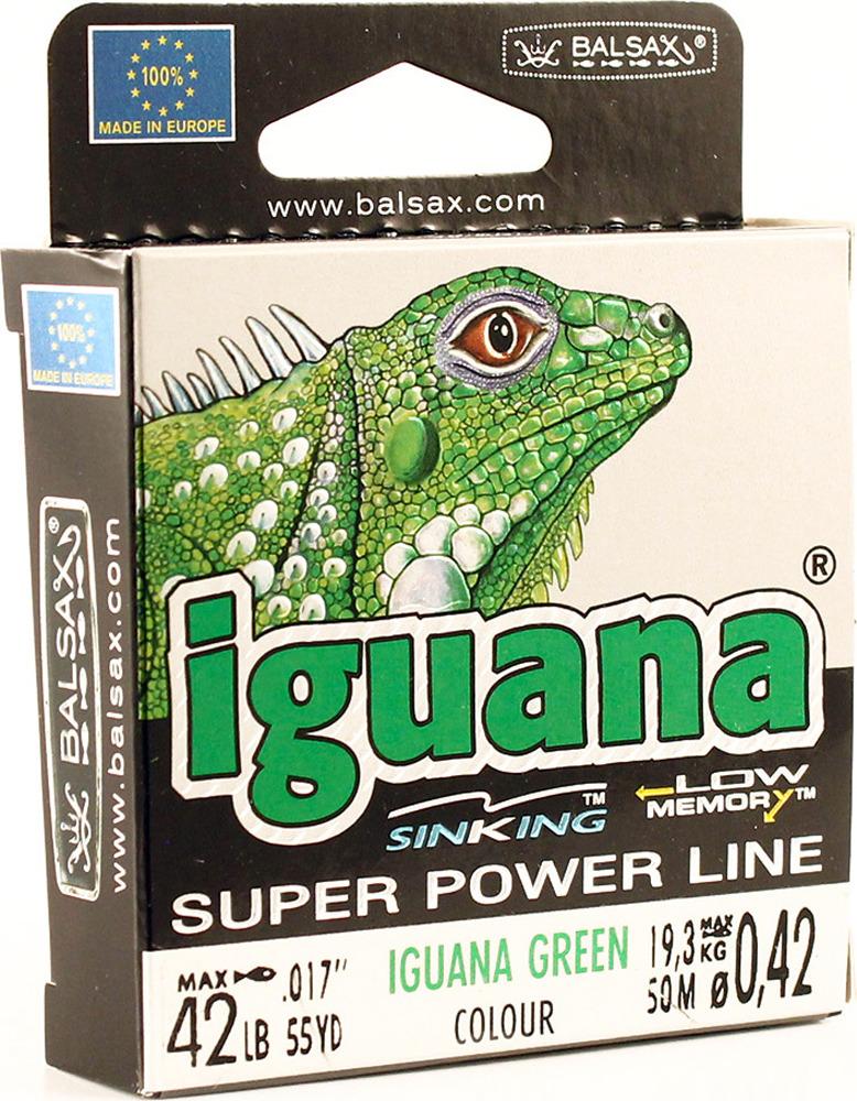 Леска Balsax Iguana, 50 м, 0,42 мм, 19,3 кг индукционная варочная панель zigmund shtain cis 331 60 bx