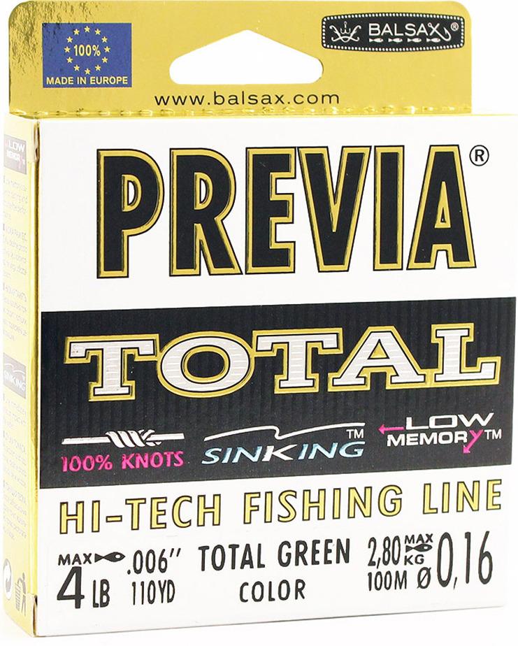 Леска Balsax Previa Total, 100 м, 0,16 мм, 2,8 кг