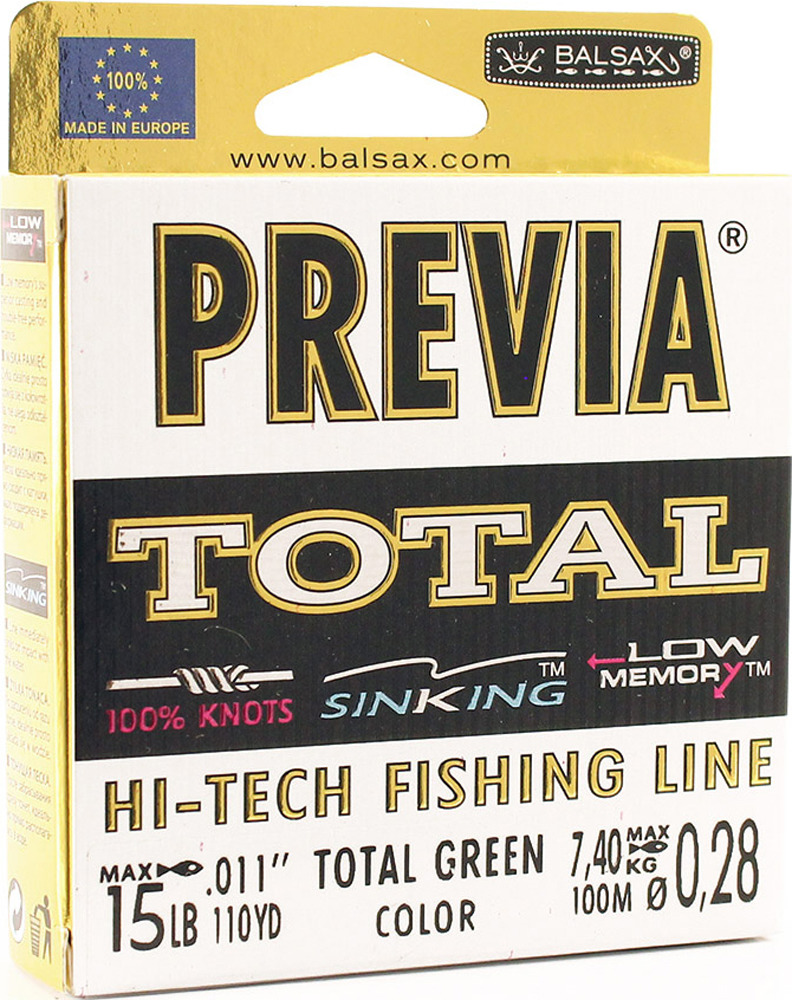 Леска Balsax Previa Total, 100 м, 0,28 мм, 7,4 кг