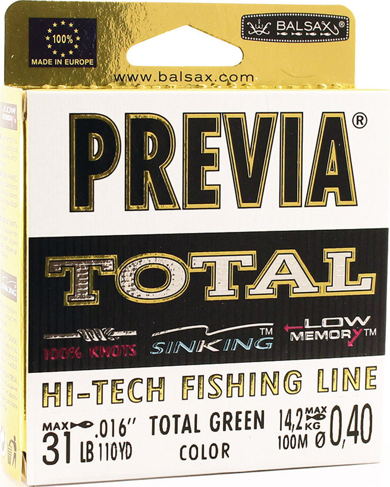 Леска Balsax Previa Total, 100 м, 0,40 мм, 14,2 кг