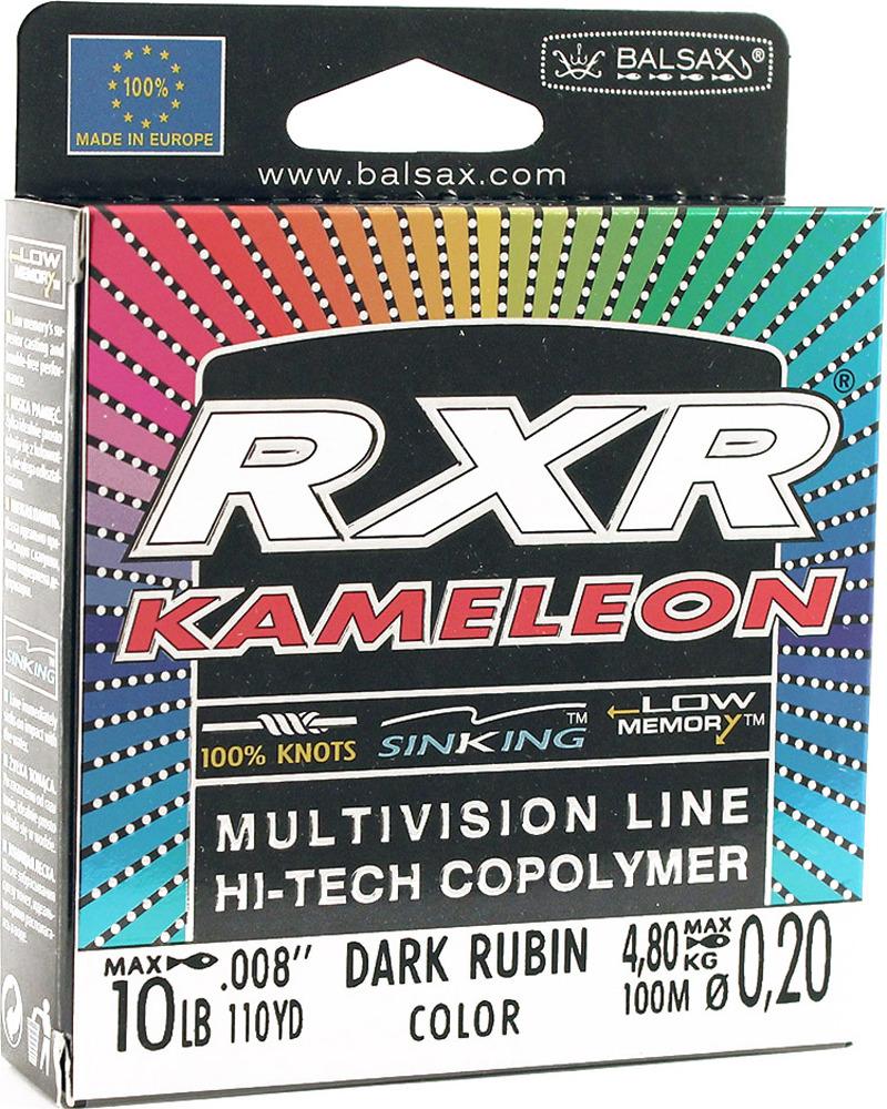 Леска Balsax RXR Kamelion, 100 м, 0,20 мм, 4,8 кг леска balsax rxr kameleon 100 м 0 12 мм 1 85 кг