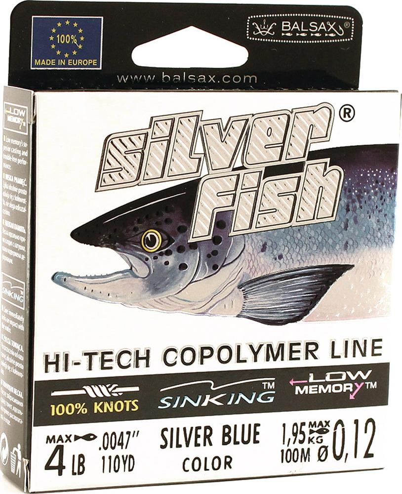 Леска Balsax Silver Fish, 100 м, 0,12 мм, 1,95 кг