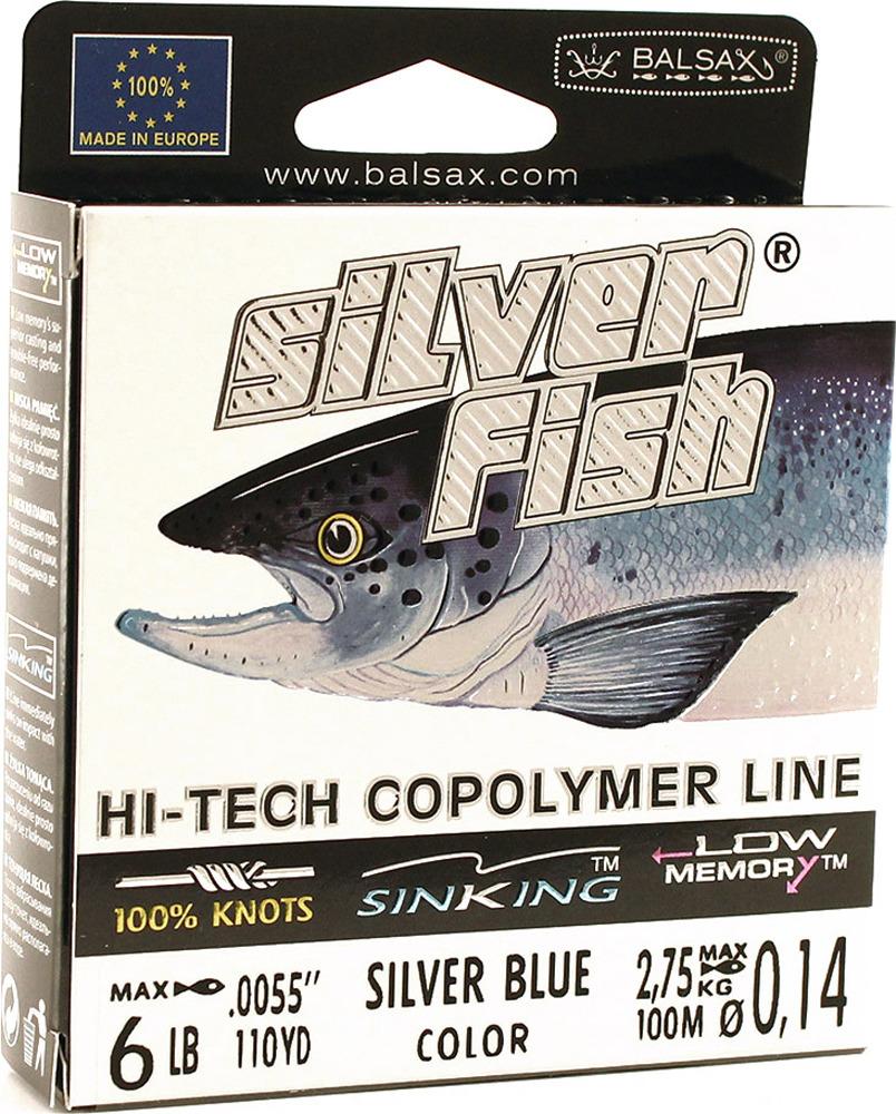 Леска Balsax Silver Fish, 100 м, 0,14 мм, 2,75 кг