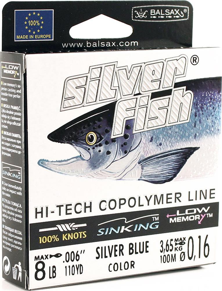 Леска Balsax Silver Fish, 100 м, 0,16 мм, 3,65 кг