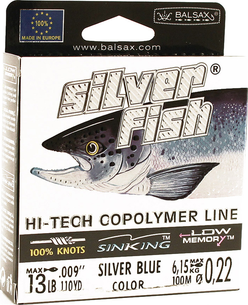 Леска Balsax Silver Fish, 100 м, 0,22 мм, 6,15 кг