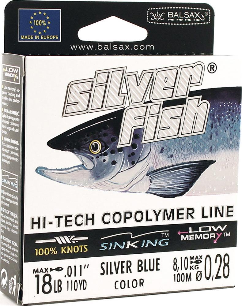 Леска Balsax Silver Fish, 100 м, 0,28 мм, 8,1 кг