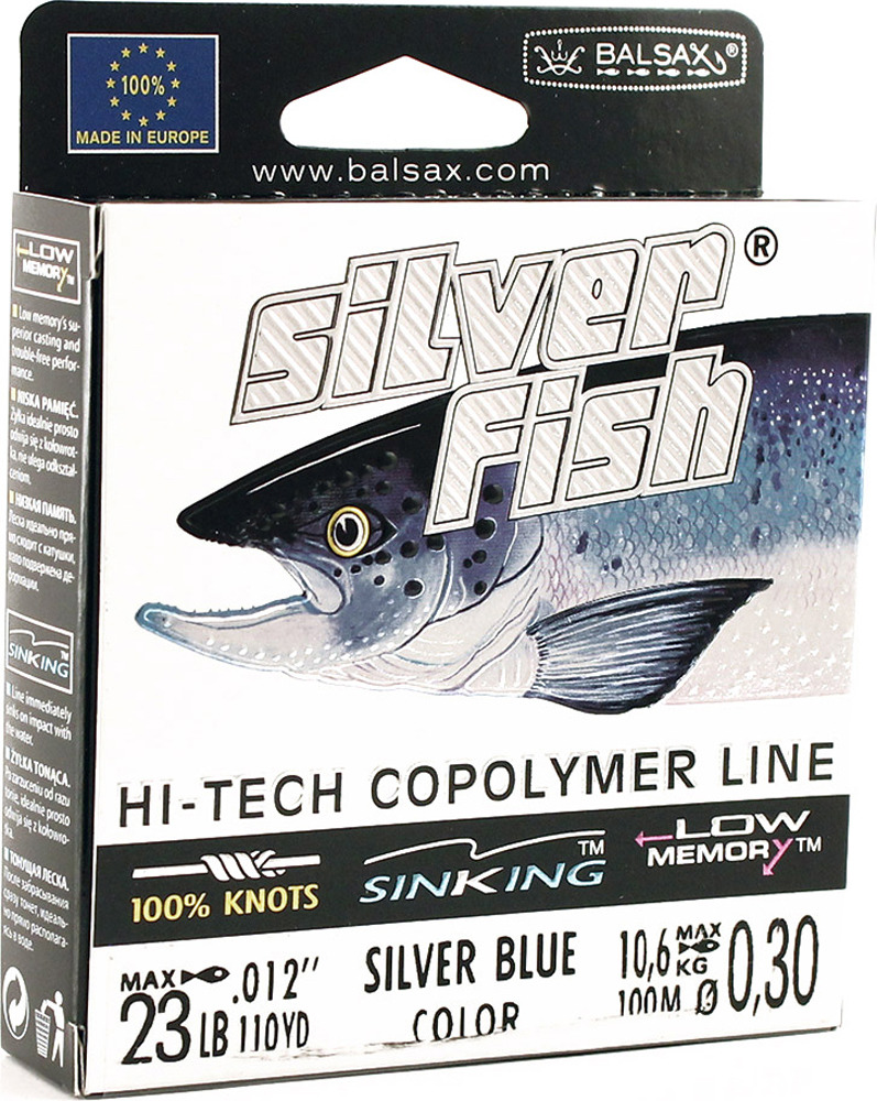 Леска Balsax Silver Fish, 100 м, 0,30 мм, 10,6 кг