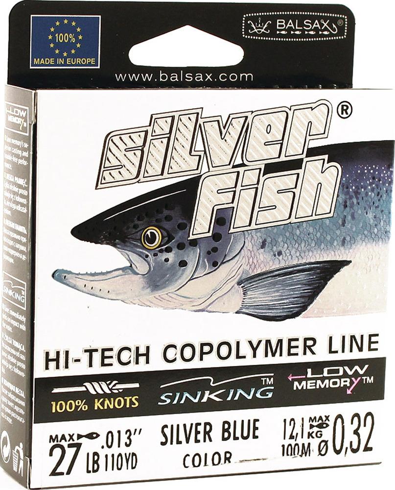Леска Balsax Silver Fish, 100 м, 0,32 мм, 12,1 кг