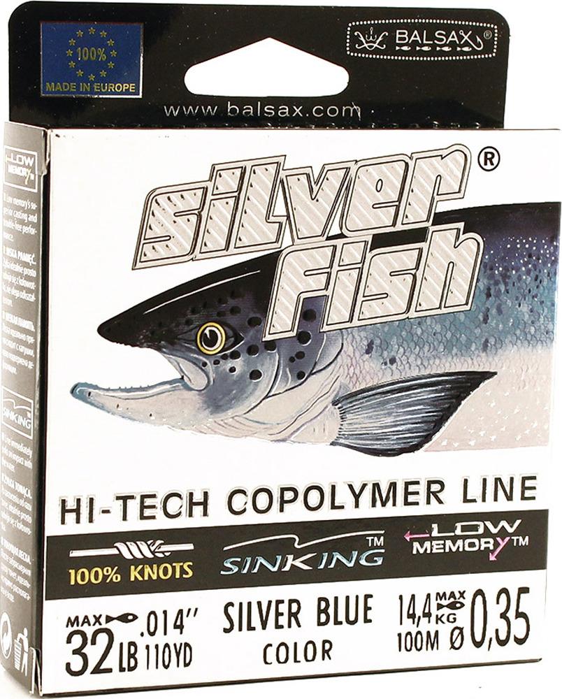 Леска Balsax Silver Fish, 100 м, 0,35 мм, 14,4 кг