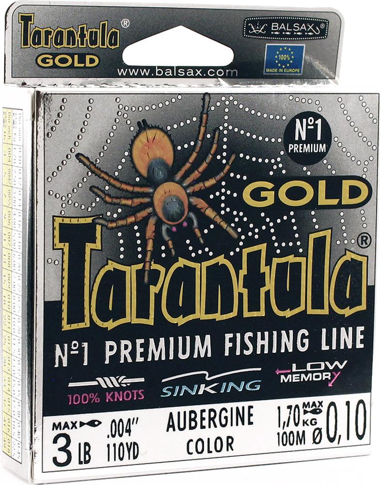 Леска Balsax Tarantula Gold, 100 м, 0,10 мм, 1,7 кг леска balsax tarantula gold 100 м 0 32 мм 13 0 кг