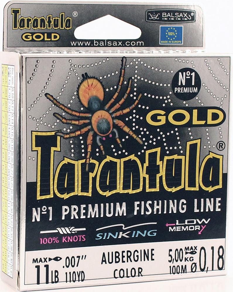 Леска Balsax Tarantula Gold, 100 м, 0,18 мм, 5,0 кг леска balsax tarantula gold 100 м 0 32 мм 13 0 кг