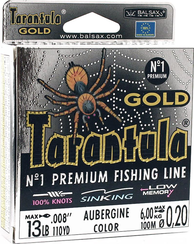 Леска Balsax Tarantula Gold, 100 м, 0,20 мм, 6,0 кг леска balsax tarantula gold 100 м 0 32 мм 13 0 кг