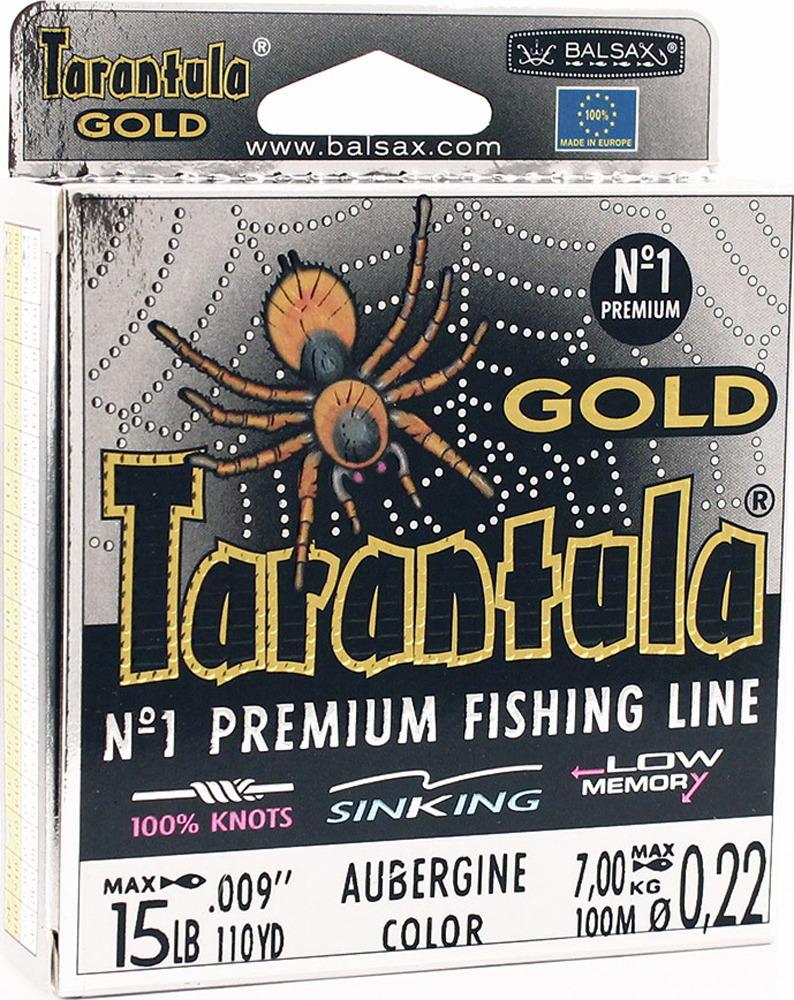 Леска Balsax Tarantula Gold, 100 м, 0,22 мм, 7,0 кг леска balsax tarantula gold 100 м 0 32 мм 13 0 кг