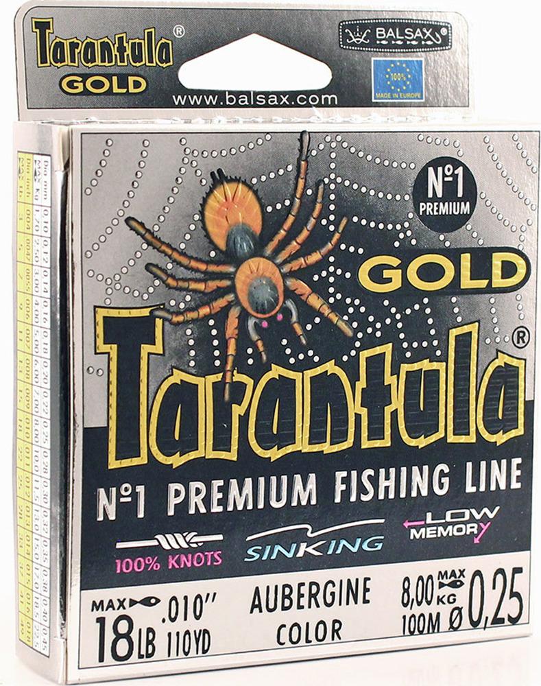 Леска Balsax Tarantula Gold, 100 м, 0,25 мм, 8,0 кг леска balsax tarantula gold 100 м 0 32 мм 13 0 кг