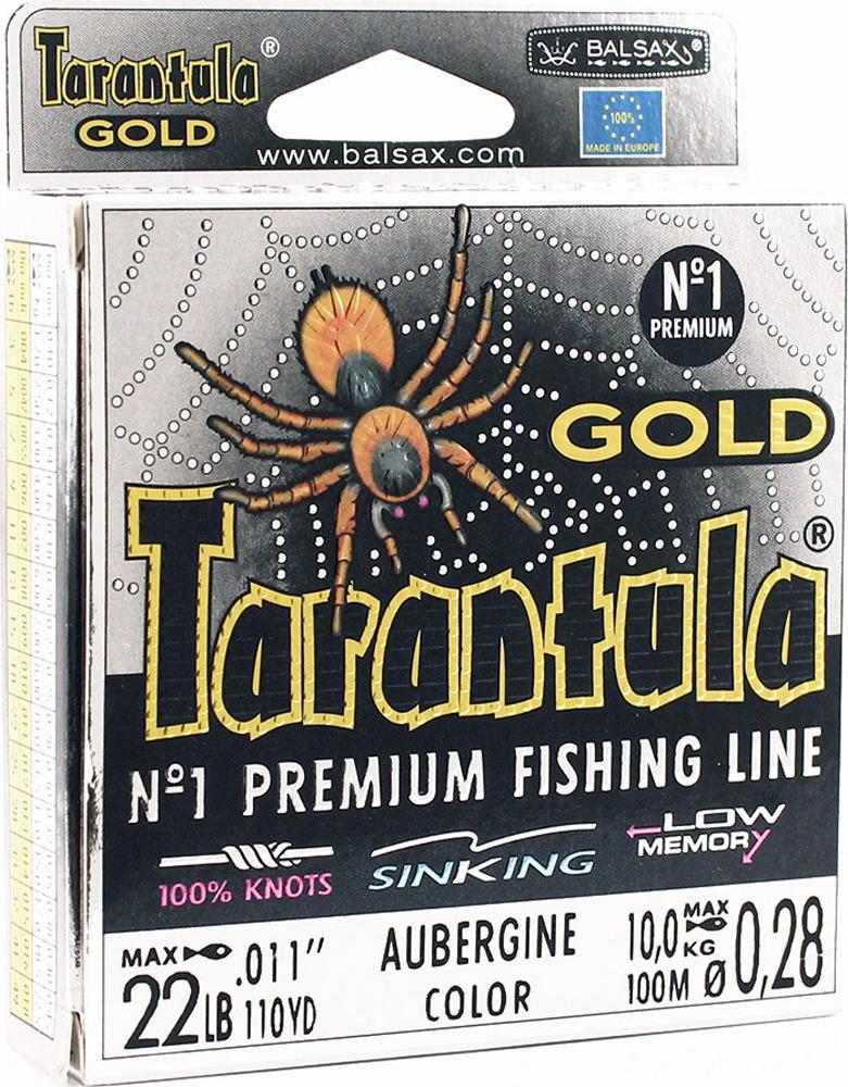 Леска Balsax Tarantula Gold, 100 м, 0,28 мм, 10,0 кг леска balsax tarantula gold 100 м 0 32 мм 13 0 кг