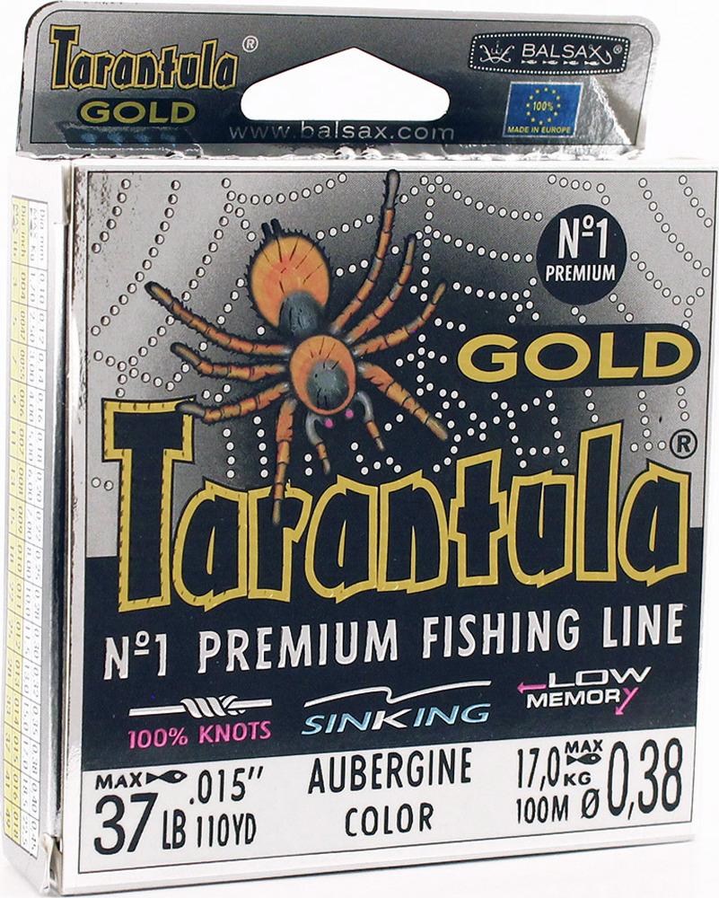 Леска Balsax Tarantula Gold, 100 м, 0,38 мм, 17,0 кг леска balsax tarantula gold 100 м 0 32 мм 13 0 кг