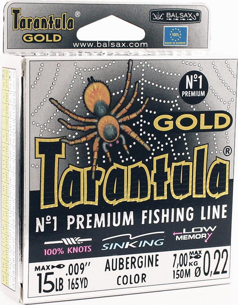 Леска Balsax Tarantula Gold, 150 м, 0,22 мм, 7,0 кг леска balsax tarantula gold 100 м 0 32 мм 13 0 кг