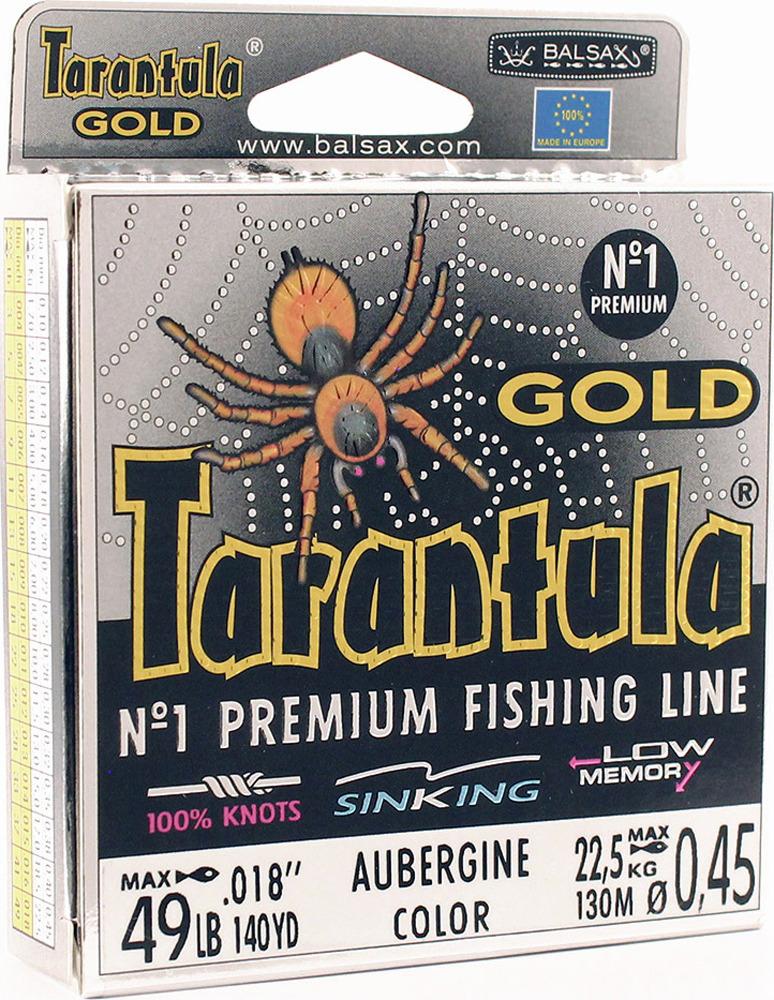 Леска Balsax Tarantula Gold, 130 м, 0,45 мм, 22,5 кг леска balsax tarantula gold 100 м 0 32 мм 13 0 кг