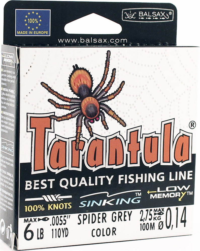 Леска Balsax Tarantula, 100 м, 0,14 мм, 2,75 кг