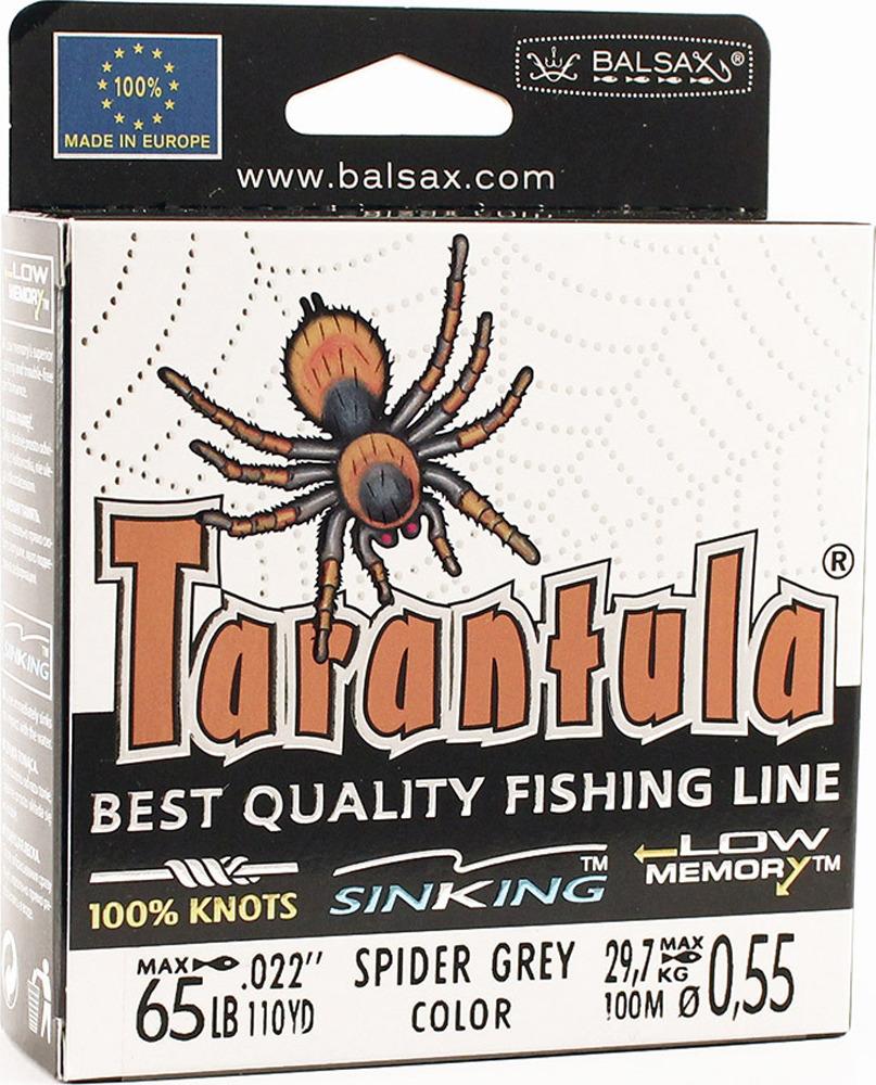 Леска Balsax Tarantula, 100 м, 0,55 мм, 29,7 кг леска balsax tarantula gold 100 м 0 32 мм 13 0 кг