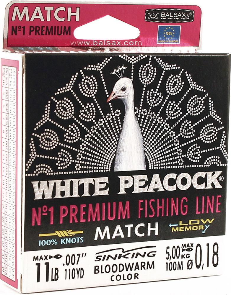 Леска Balsax White Peacock Match, 100 м, 0,18 мм, 5,0 кг