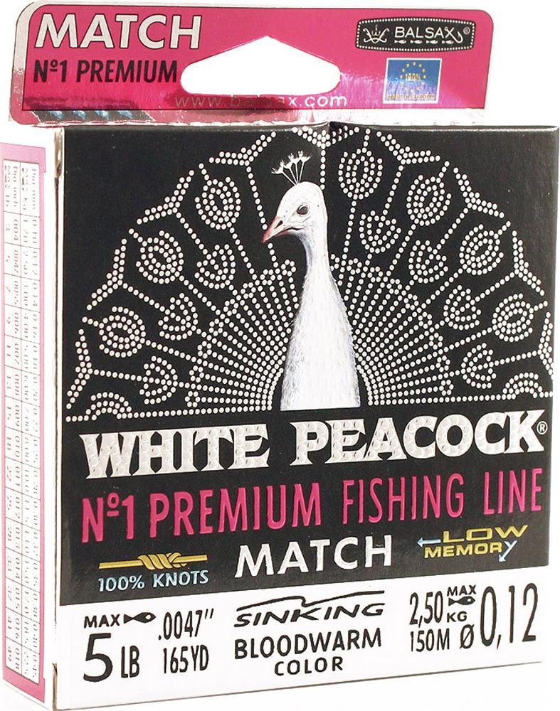 Леска Balsax White Peacock Match, 150 м, 0,12 мм, 2,5 кг