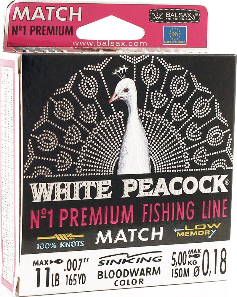 Леска Balsax White Peacock Match, 150 м, 0,18 мм, 5,0 кг